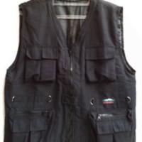 harga fashion pria vest rompi katun ribstop size L XL warna black hitam best Tokopedia.com
