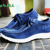 promo sepatu casual clarks suede mercy leather