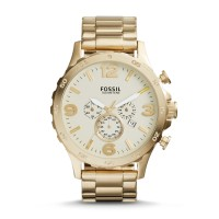 JAM TANGAN FOSSIL JR-1479 NATE CHRONOGRAPH GOLD-TONE STAINLESS STEEL