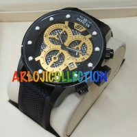 WATCH INVICTA RUBBER BLACK CRONOGRAOH GRADEE AAA - ARLOJICOLLECTION