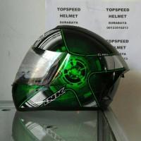 harga helm ink CL MAX #4  hitam hijau Tokopedia.com