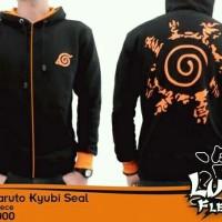 Jaket Kyubi Seal Segel Anime Naruto Hitam Putih