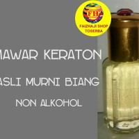 MINYAK WANGI MAWAR KERATON | ASLI MURNI BIANG 100% non alkohol