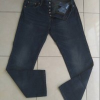 Levis 501 Import (Q16), MidNight Blue, Tag Label Lengkap (USA)