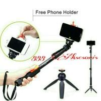 Jual Paket Selfie Yunteng Tongsis Bluetooth YT-1288 + Mini Tripod YT-288 Murah