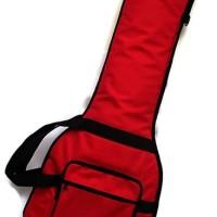 Tas gitar bass elektrik | softcase bass elektrik red tebal