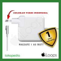 "ORIGINAL GARANSI 1TH Charger Macbook PRO 13"" Adaptor Magsafe 1 60 Watt"