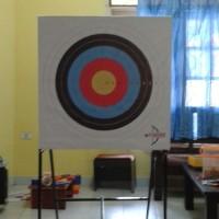 Jual Bantalan Target Busur Panahan 80cm dan Papan Stand Besi Murah