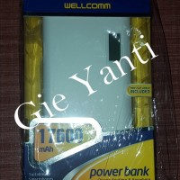 Power Bank Wellcomm 17600mAh AR176Riil Capacity (Original 100%)