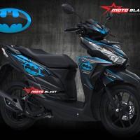 Decal stiker Honda Vario 125/150Esp - Black Batman Blue