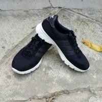 Sepatu Pria Wanita Murah Kets Olahraga Replika Adidas Hitam Lis Hitam