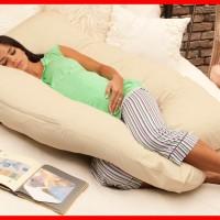 Jual Maternity Pillow / Bantal Bumil / Bantal Ibu Hamil Kream Murah