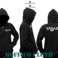 Hoodie Zipper / Jaket DJ Yasmin Indonesia - Hitam