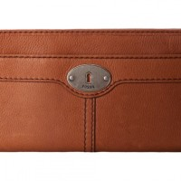 Fossil Marlow Zip Clutch Brown