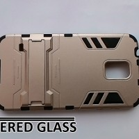 harga Case Samsung Galaxy S5 Kickstand Series - Gold + Free Tempered Glass Tokopedia.com