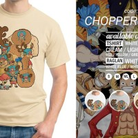 Kaos One Piece Tony Chopper NW 01 T-Shirt Raglan Anime OP