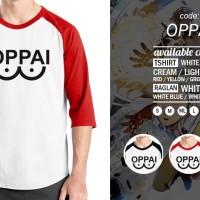Jual Kaos Oppai One Punch Man T-Shirt Raglan Anime Saitama Murah