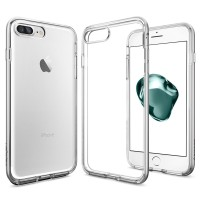 Spigen iPhone 7 Plus Case Neo Hybrid Crystal Clear - Satin Silver