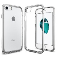 Spigen iPhone 7 Case Neo Hybrid Crystal Clear - Satin Silver