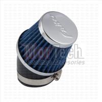 Filter Karbu / Saringan Udara Open Air Filter Bengkok Faito 46 Mm Biru