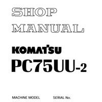 Shop Manual / Service Manual Komatsu Excavator PC75UU-2
