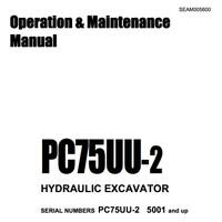 Operation & Maintenance Manual Komatsu Excavator PC75UU-2