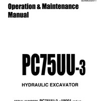 Operation & Maintenance Manual Komatsu Excavator PC75UU-3