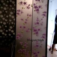 Jual stiker kaca motif bunga sakura Murah