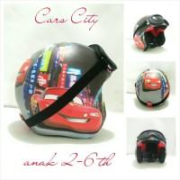 Helm Bogo Retro Anak 2-6 th Motif Cars City + Kacamata