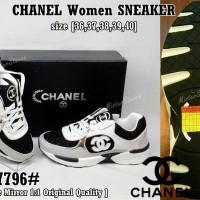 SALE 50%!!! Sepatu Wanita CHANEL Women Sneaker SP-07796# Authentic