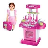 Mainan Kitchen set Koper Pink
