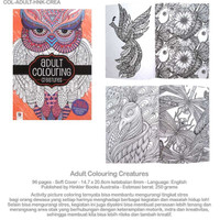 Jual Coloring Books for Adults/ Adults Coloring Creatures Murah