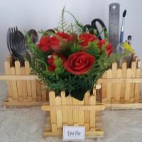 harga Pot vas bunga stik pagar kayu serba guna Tokopedia.com
