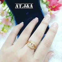 Cincin channel ( xuping / perhiasan lapis emas )