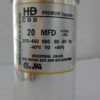 Kapasitor AC Merk HD Premium 20 uF/micro (untuk AC 1/2 PK)