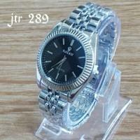 jam tangan merk rolex branded silver watch unisex cowok cewek pria