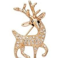 bross rusa emas berlian sparkling diamond deer influx jbr003