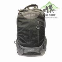 Tas Backpack/Real Polo-Tas Ransel Jumbo 6333 45 L Black+ Raincover