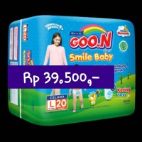 GOON GO.ON SMILE BABY PANTS L 20 POPOK/DIAPER/PAMPERS BAYI CELANA