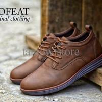 Jual Sepatu Semi Boots Pria Premium Moofeat Lunar Original Coklat Tua Murah