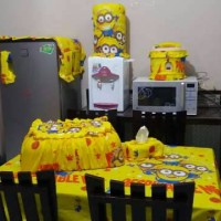 Homeset/sarung galon/GKM/Kitchen set/taplak meja 4K spongebob