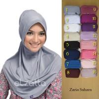 ELZATTA Hijab Kerudung Jilbab Instan Bergo Zaria Sahara Asli Terba