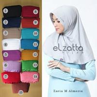 Jual ELZATTA Hijab Kerudung Jilbab Instan Bergo Zaria M Almeria Asli Murah