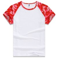 Kaos/Baju Olahraga Wanita Berbahan Quick Dry Camouflage Blue,Red-S,M,L