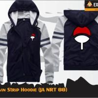 Uchiha Twin Strip Hoodie (Jaket Naruto JA NRT 88)