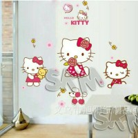 Jual HELLO KITTY WALL STICKER | STIKER-WALLSTICKER | WALLSTIKER Murah