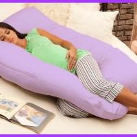 Jual Bantal Khusus Ibu Hamil / Maternity Pillow Ungu Harga Grosir Murah
