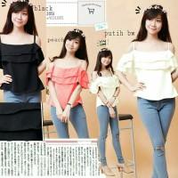 N.junita ro] pakaian wanita blouse sabrina atasan wanita korea