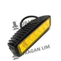 harga LED BAR OFFROAD DRL Work Light 6 mata - KUNING (18W) Mobil/Motor Tokopedia.com