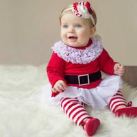 baju santa baby bayi sinterklas claus dress legging rok girl cewek
